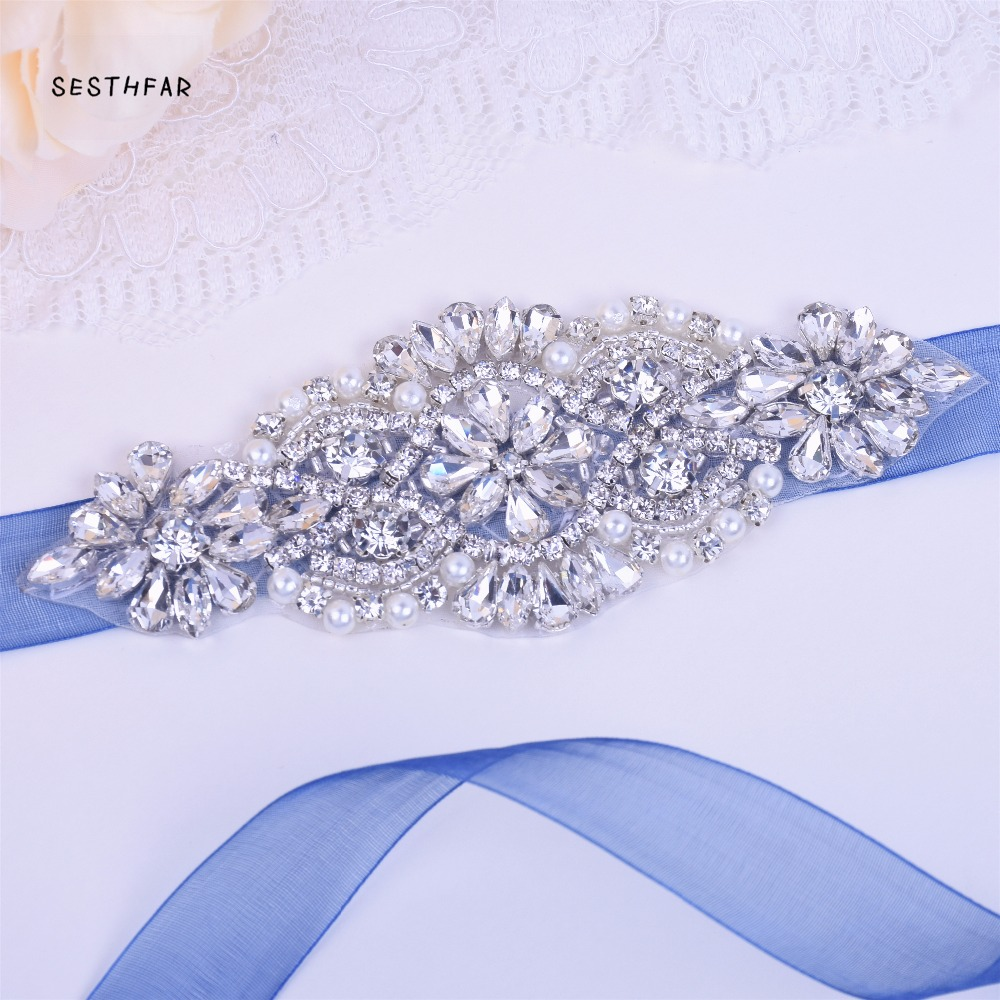 Crystal Wedding Belt Sliver Bridal Belt Rhinestone Sash Wedding Dress Sash Belt Crystal Satin Wedding Sash  JY75FS