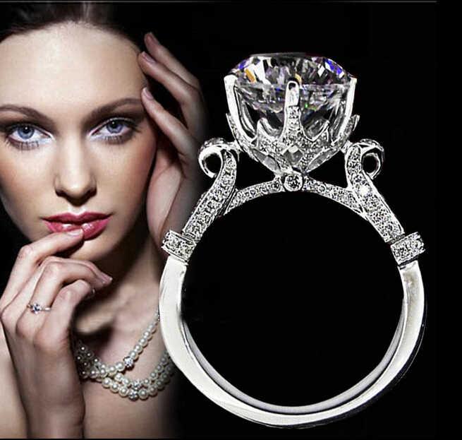 Choucong Eternity ручной работы 2ct 5A Циркон CZ 925 серебро Для женщин Обручение обручальное кольцо SZ 4-10 подарок