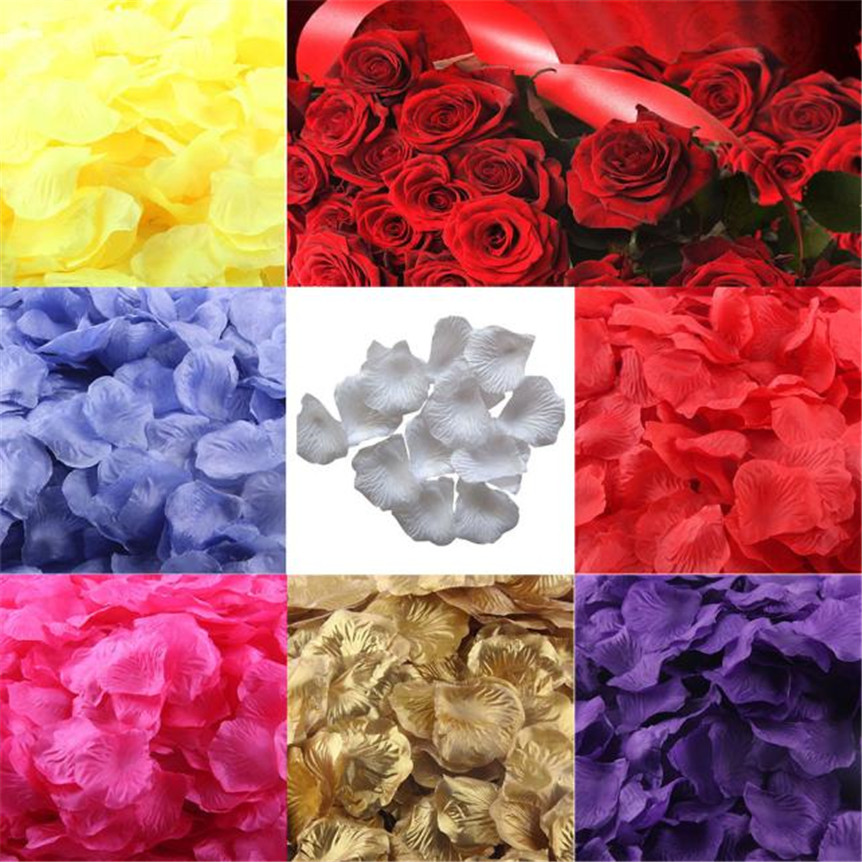 100% Quality 25colors Top Quality 1000pcs Silk Rose Flower Petals Leaves Wedding Decorations Party Festival Table Artificial Flowers Decor Home & Garden Festive & Party Supplies