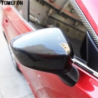 TOMEFON ABS Chrome For Mazda 3 M3 Axela 2014 2017 Side Wing Rear View Rearview Mirror Cap Replacement Cover Trim