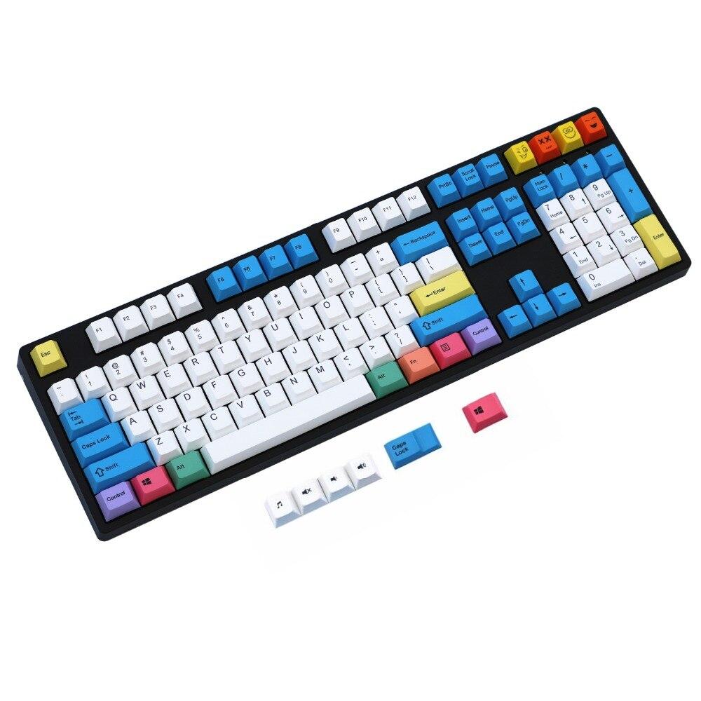 Ensemble de touches de couleur PBT pour clavier mécanique 60%/TKL 87/104/108 MX ANSI Cherry MX pour Anne iKBC Akko X Ducky