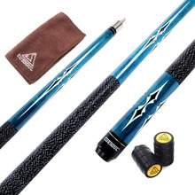 Cuesoul Full Canadian Maple Wood CSTB003 1/2 Jointed Billiard Pool Cue 58 inch 19 oz with 13mm 6 Layer Baked Pig Leather Cue Tip
