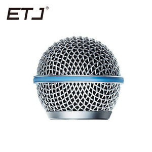 Image 2 - Freeshipping 6pcs/lot Professional Replacement Ball Head Mesh Microphone Grille Fits For shure sm 58 sm 58sk beta 58 beta58a