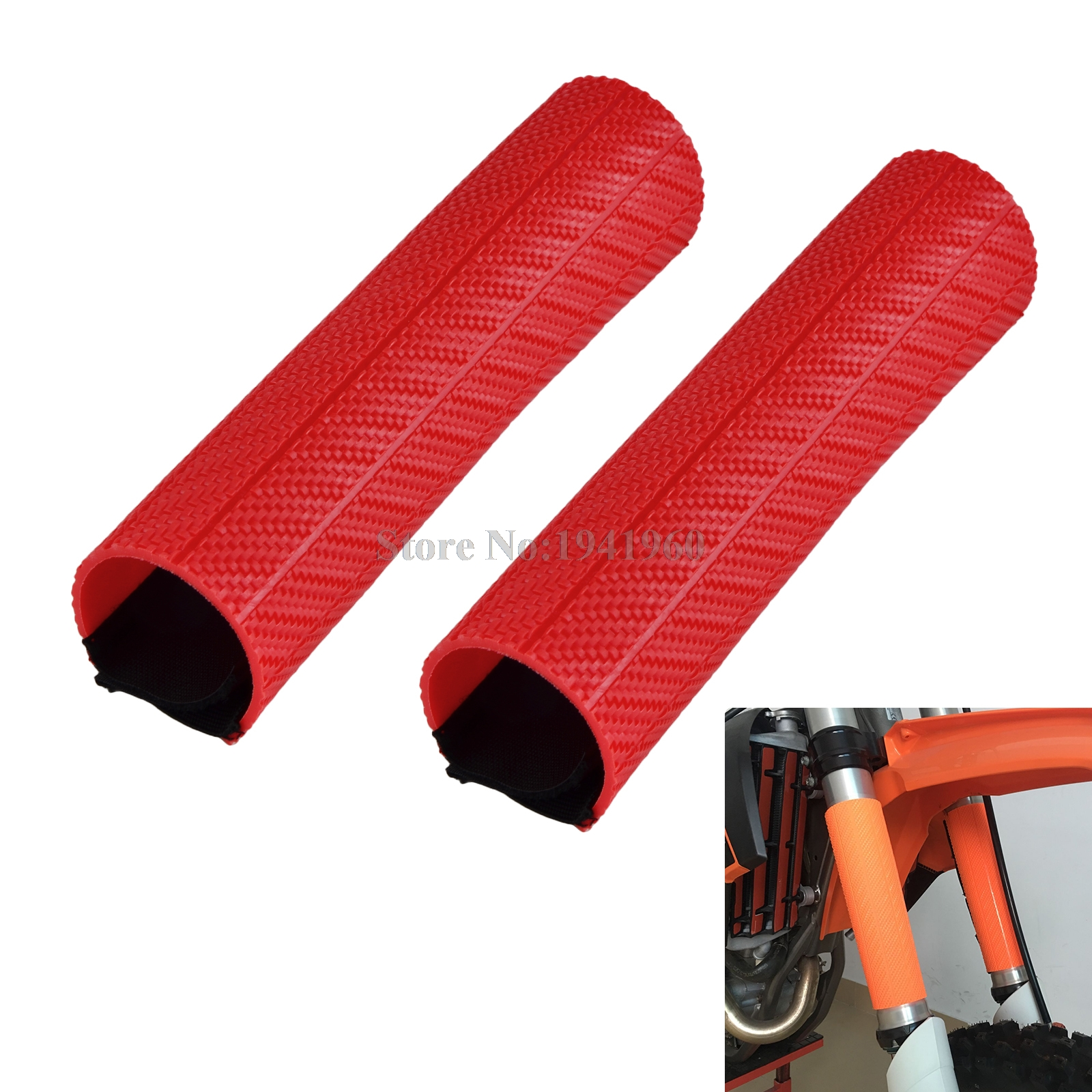 NICECNC Front Fork Guard Dust Protector Fork Shock Cover For Honda CRF250L CRF250M CRF150R CRF250R CRF450R CRF250X CRF450X 2017 for honda crf450x crf250x crf250l crf