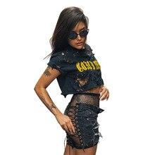 Summer hot sexy nightclub bandage female denim shorts fashion new high waist stretch jeans hollow
