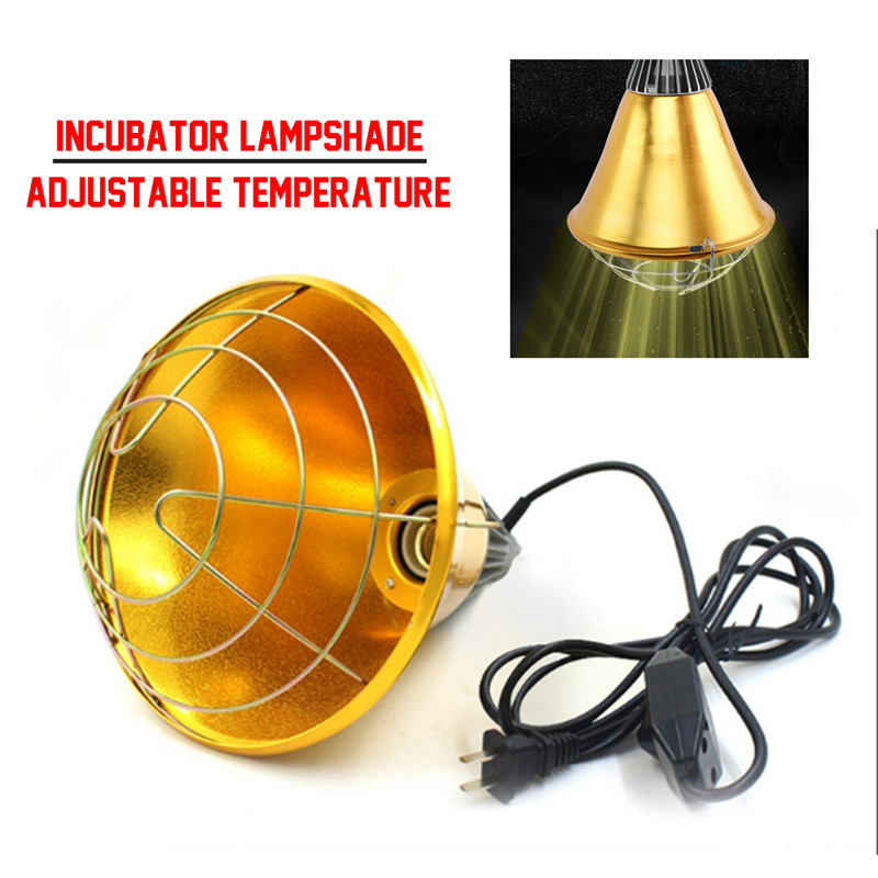 Adjustable Switch 250W Poultry Heat Incubator Lamp & Hen Pet Infrared Bulb Light Rearing For Chick Livestock Piggy Duckling Warm