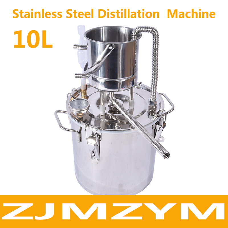 New Arrival 304 Stainless Steel Small household Brewer Cooler 10L Distillation Wine Brandy Fermentation Hydrosol Machine image