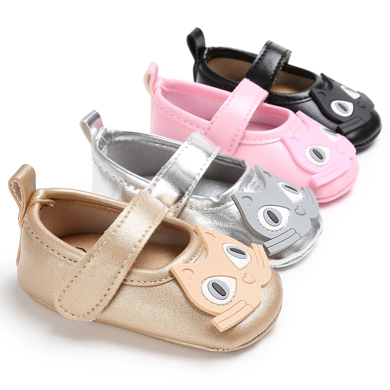 Cute cat baby princess pedal shoes Newborn Infant Toddler First Walkers Soft Soled PU Leather Kids Shoes