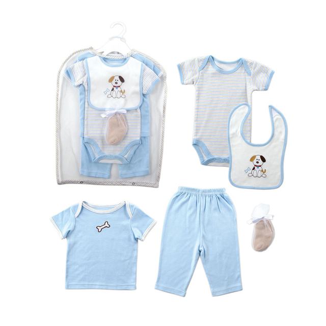 Retail 2016 Summer Style Infant Clothes Baby Clothing Sets Boy Girl Cotton Short Sleeve 2pcs Baby Boy Clothes Baby Rompers 0-6 M