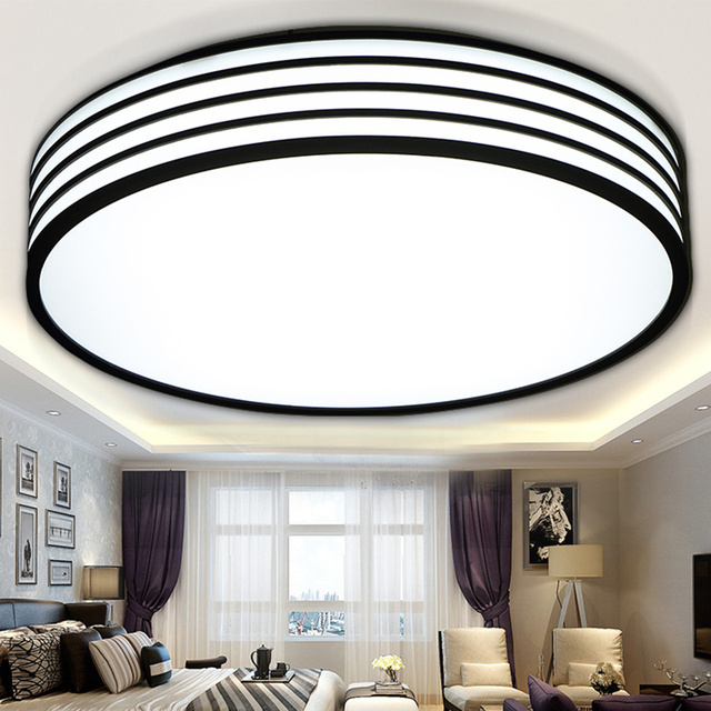 Round Led Ceiling Lights Design Child Living Room Modern Lamp Lamparas De Techo Home Lighting Fixtures Acrylic Kitchen Lamps