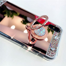 For Samsung Galaxy S8 Plus S7 S6 Edge luxury Diamond Mirror  Phone Case For Samsung A3 A5 A7 J3 J5 J7 2016 2017 Phone Cover Case multifunctional pc material mirror surface phone cover case for samsung galaxy s6 edge