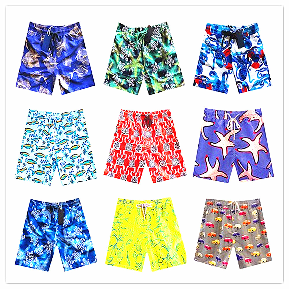 2018 Brand Brevile Pullquin Beach Board Short Men Turtle Conch Cupid Arrow Pineapple Seagull Board Shorts Elastic Waist Swimwear Board Shorts
