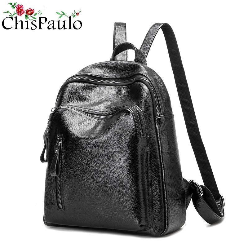 CHISPAULO Designer 2017 Fashion Women s Genuine Leather Kanken Backpacks For Teenage Girls Women Travel School