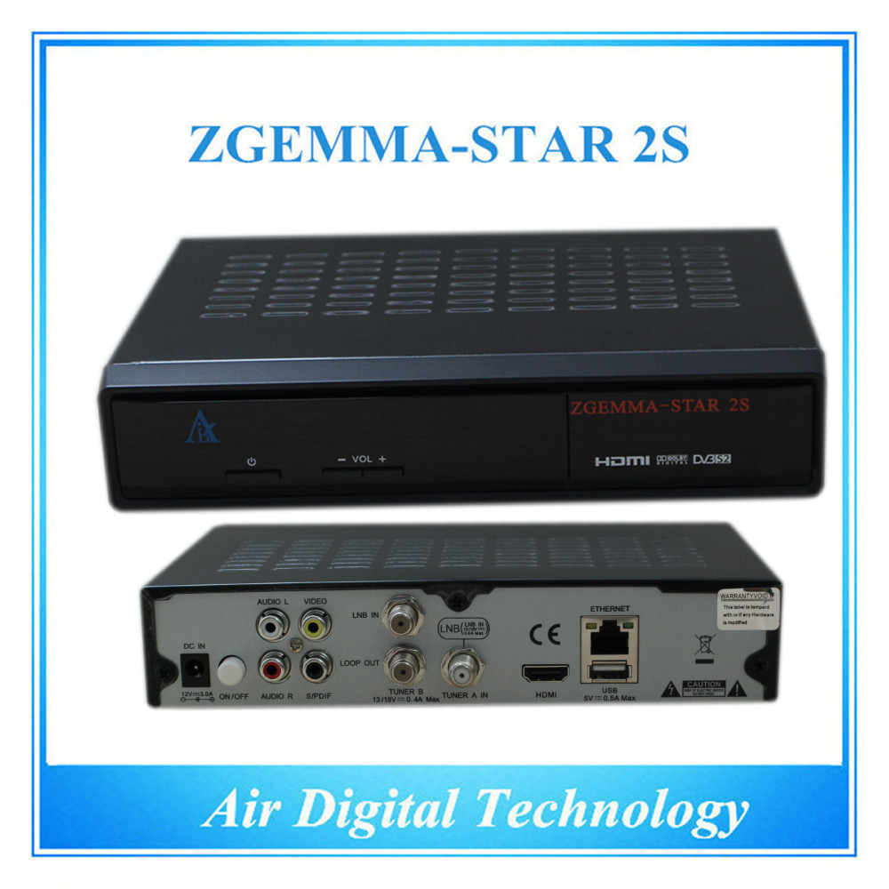 US $1368 0 |20pcs/lot Official High Tech Software Supported Zgemma Star 2S  FTA Satellite Receiver With DVB S2+DVB S2 Twin Tuners IPTV Box-in Satellite