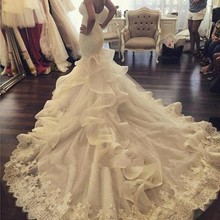 Ever-modeldress Luxury Mermaid Wedding Dresses Court Train