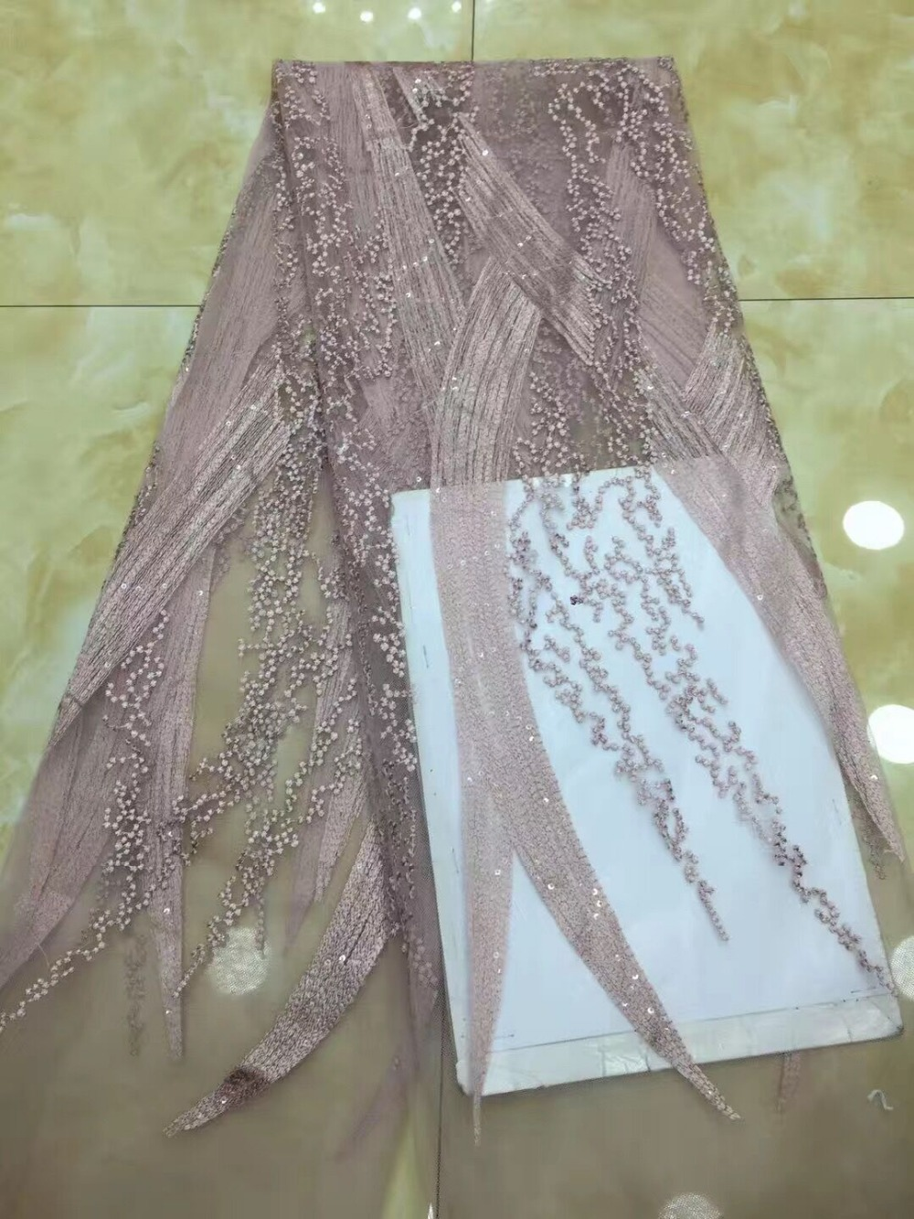 Tela de encaje de tul africano JIANXI.C 82705 de alta calidad para vestido de fiesta tela de red bordada-in encaje from Hogar y Mascotas    1