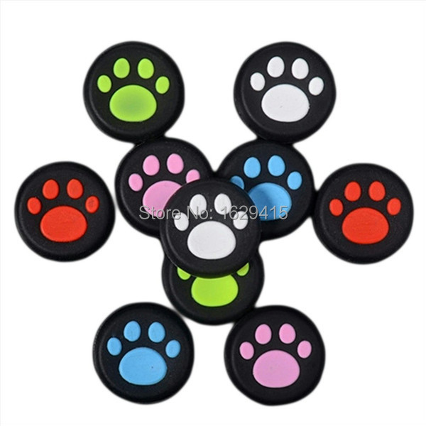 IVYUEEN 100 Pcs Rubber Silicone Cat Claw Analog Thumb Sticks Grips For Playstation 4 PS4 PRO Slim Controller Caps For XBox 360