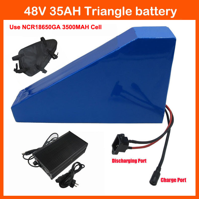 2000W 48V 35AH triangle battery 48V Lithium ion battery for Electric bike batteries Use GA 3500MAH Cell 50A BMS 4A Charger|48v lithium ion battery|battery 48v|48v lithium - title=