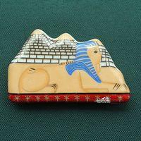 The Pyramids And Great Sphinx Of Egypt Tourism Travel Souvenir Ceramic Fridge Magnet
