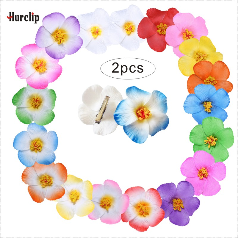 2pcs hot sell 18 kinds of colors you pick 9cm women girl Foam Hawaiian flower hairpin Hibiscus Flower bridal hair clip   headwear