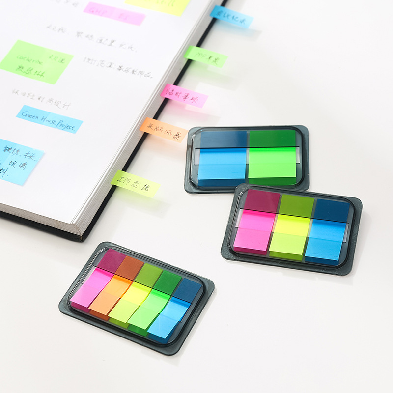 6 Pcs Color Index Sticker Note PVC Rainbow Memo Notes Post Stick Marker Stationery Office Accessories School Supplies A6779