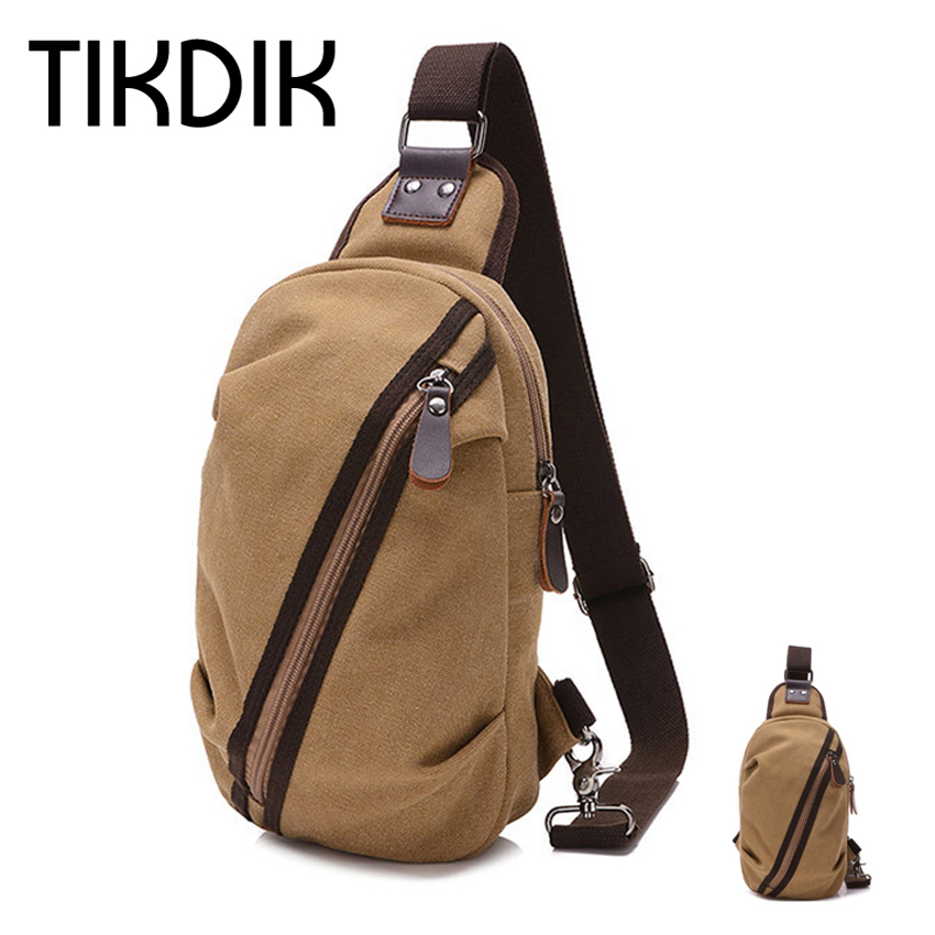 Triangle Chest Pack Travel Bag Unisex Canvas Back pack Chest Pack Women Luxury Brand Crossbody Shoulder Bag bolsa masculina