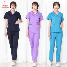 Hand-washing clothes womens short-sleeved hospital overalls doctors operating suit split doctor brush hand