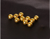 Pure 999 24K Yellow gold Smooth 9mm Beads 0.88g