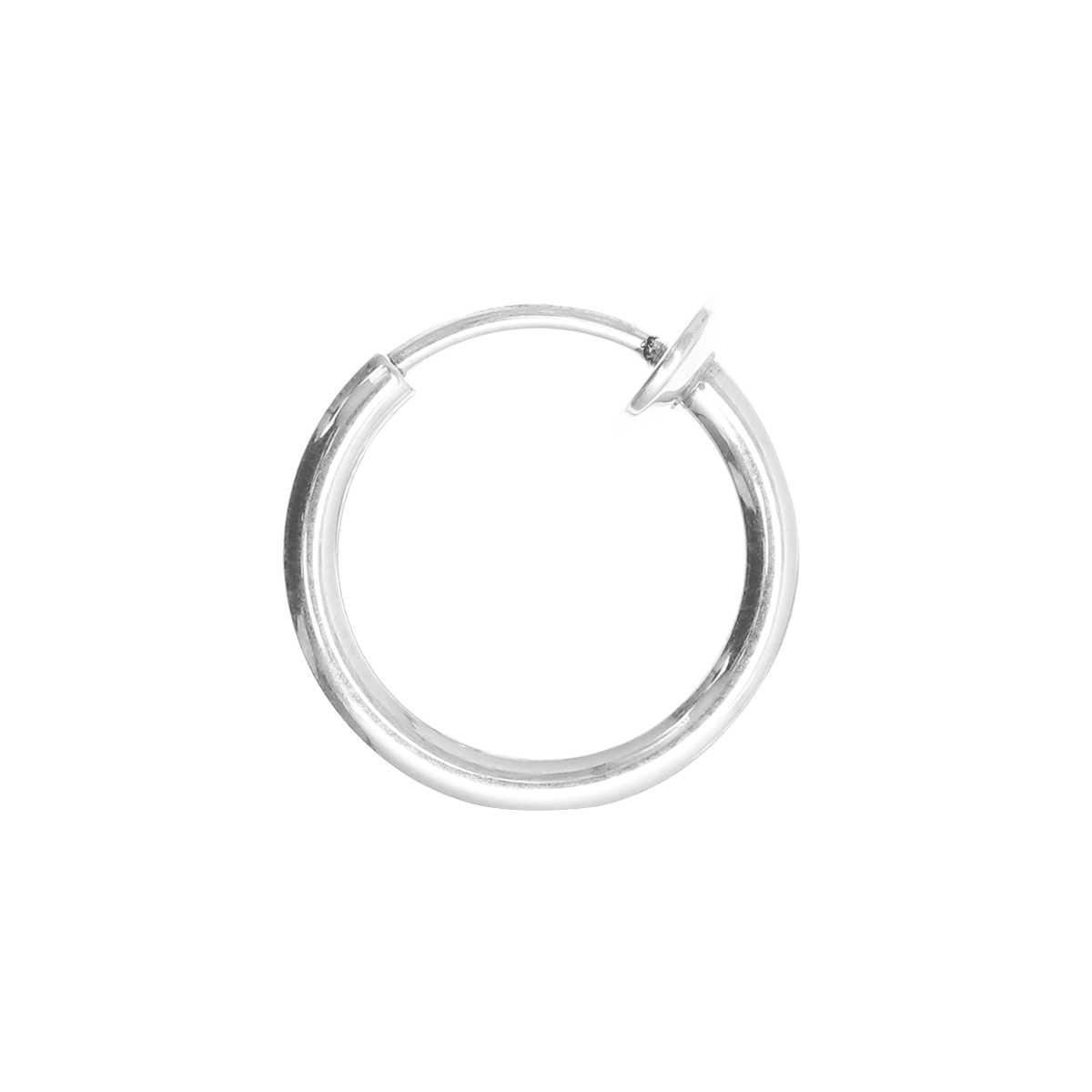 1pc Mens עגילי טבעת נייל נירוסטה קליפ-על סגירת עגילי האף שפתיים בטן גבות Helix סחוס Tragus עגילי חישוק