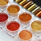 COSCELIA 1PC Nail Art Decoration Glitter Dust Nail Glitter Powder Red Gold Mirror Powder For UV Gel Nail Polish Manicure Powder