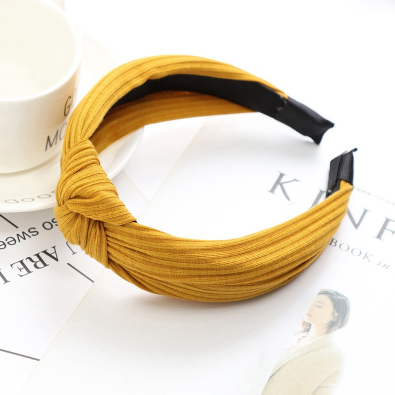 Apparel Accessories Sensible 1 Piece Solid Soft Knotted Headband For Women Lady Bow Hair Hoop Hair Accessories Headwear Hot Selling Jewelry Possessing Chinese Flavors