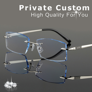 Customrized Korean Glasses Frames For Men Eyeglasses Rimless Frame Male Complete Spectacle Prescription Computer Eye Glasses 647
