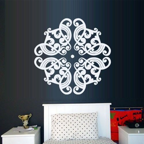 2015 Wall Decal Yoga Decor Ceiling Mandala Menhdi Ornament Om Indian Hindu home Decor wall stickers