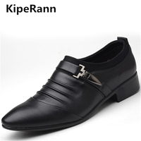 KipeRann мужская одежда обувь высокого качества Бизнес Оксфорд брендовые свадебные туфли обувь с острым носком 2018 НОВЫЙ Латинской обувь
