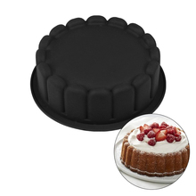 Silicone Round Shaped 3D Cake Lace Pan Baking Pastry For Dessert Mousse Brownies Muffin Fondant Cakes Molds Black Bakery Tools