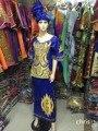 (Frete grátis) A nova moda 2015 Requintado bordado Africano BAZIN Africano senhora vestido tradicional materia M2380