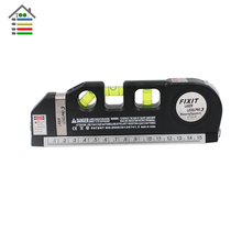 Portable Laser Level Horizon Vertical Measure Tools Tape 8FT Aligner Multipurpose Bubbles with Metal Tape Ruler Diagnostic-Tool