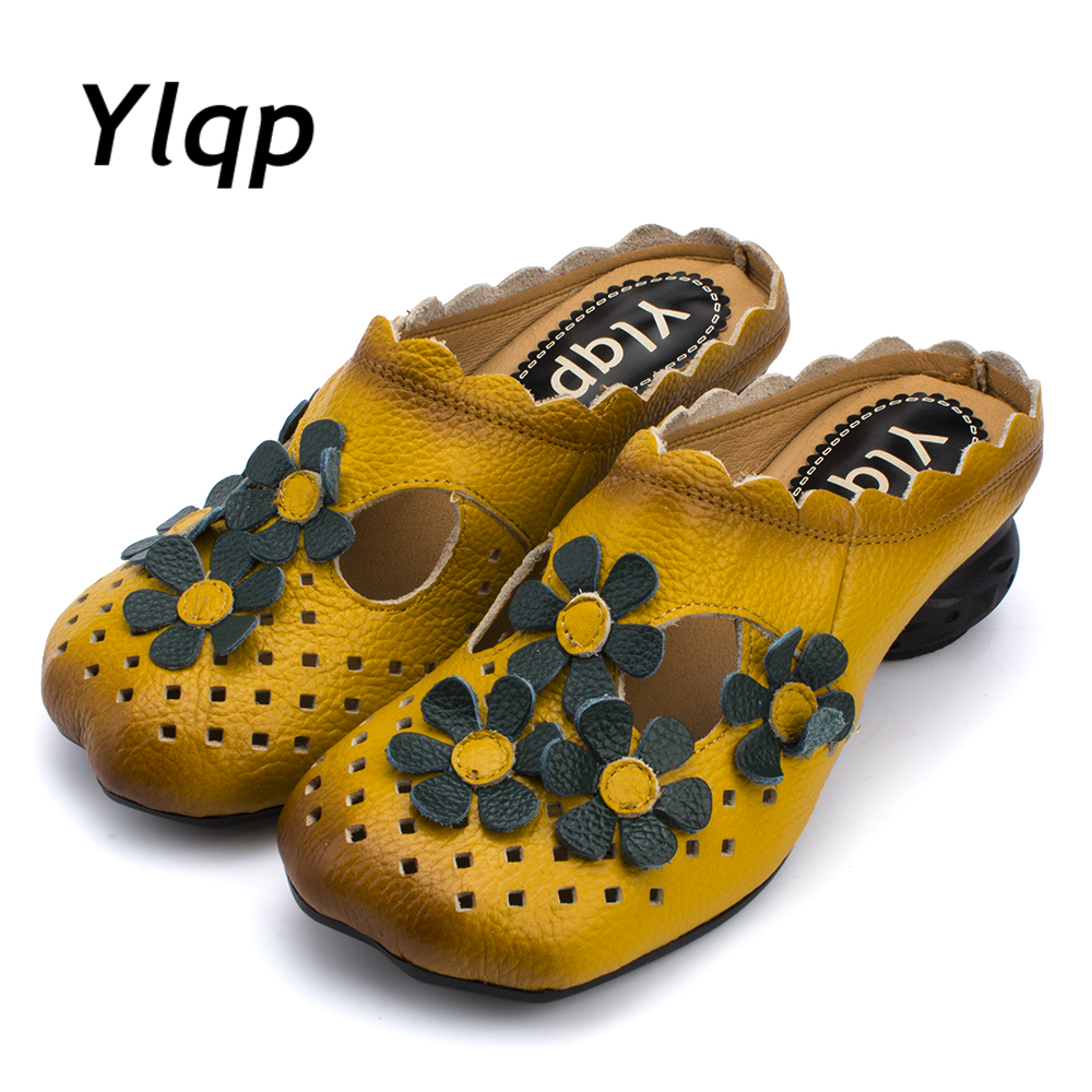 где купить Ylqp 2018 women sandals summer slippers shoes women high heels sandals fashion hollow out shoes flower shoes sandalias mujer по лучшей цене