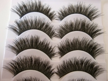 Free shipping 2014 hot sale 5 Pairs/lot  natural long thick cocking up girl High quality false eyelashes charming fake