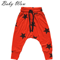 2-6Y Boys Pants Baby Baggy Harem Trousers Kids Unisex Five-pointed Star Printed Harem Pants Elastic Wasit Hip Hop Pant JH-151272