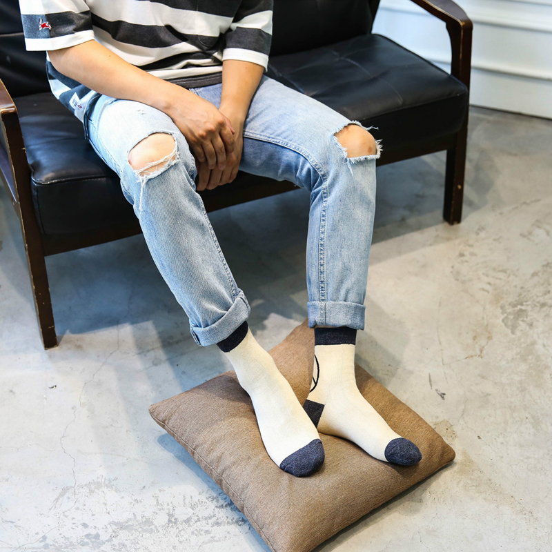 High Quality Men Socks Cotton Peace Logo fashion trend Casual Suitable for all seasons Excellent Quality Breathable Men Socks in Men 39 s Socks from Underwear amp Sleepwears