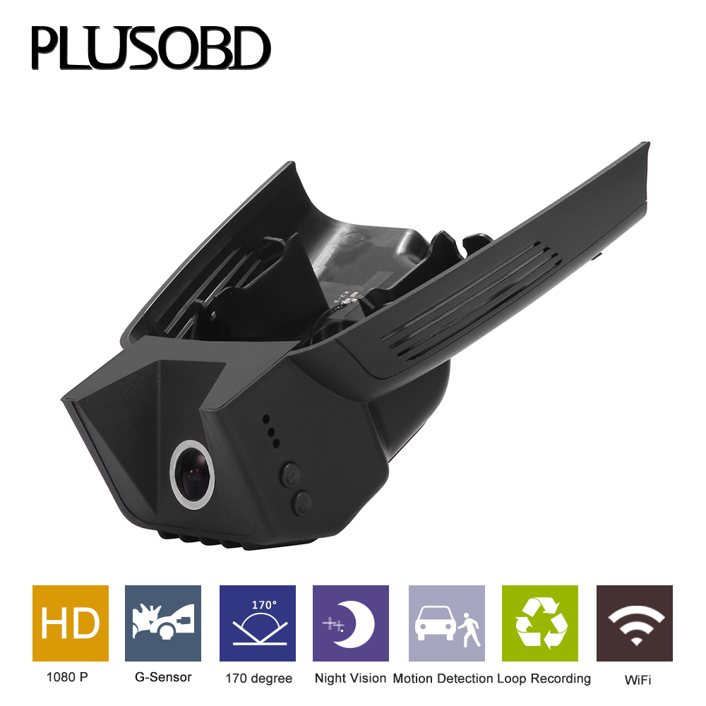 PLUSOBDFor Benz GLK X204 Car Camera G-sensor Dash Cam H.264 Car Video Camera Recorder 1080P Wifi Hidden DVR With Aluminium Alloy plusobd wifi car dvr recorder for mercedes benz glk x204 2009 15 dash cam black box sony 322 with aluminium alloy and obd2