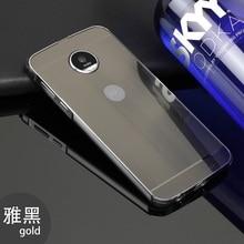 Противоударный алюминиевый металлический бампер для Motorola Moto Z PLAY/Z2 Play/G5 G5 + плюс Роскошный телефон рамка с пластиковой задней крышкой