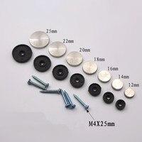 100 Pcs/Lot 12mm Durchmesser Edelstahl Kappe Abdeckung Dekorative Spiegel Schrauben Display Spiegel|Schrauben|Heimwerkerbedarf -