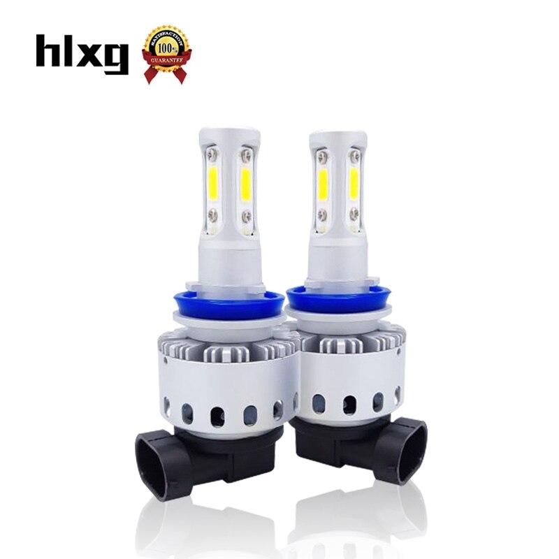 2017 New Style LED Headlight 9005/HB3 LED C REE COB Chips Auto Light 80W 8000Lm Ulta Bright Automobiles Led Bulb Kit 2pcs/lot