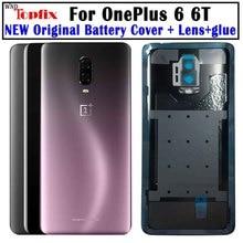 Verre dorigine pour OnePlus 6 6T couvercle de batterie arrière porte verre arrière Oneplus 7 Pro couvercle de batterie 1 + 6T boîtier + objectif de caméra