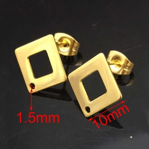 Image 4 - 100PCS/Lot Jewellery Components gold color Findings Dangle Earrings Pin Cup Pit Stud earring base DIY Making Ear Studs Head Pins