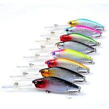 8 pièces leurre de pêche méné 8 couleurs appâts durs manivelle 11 cm 9.5g matériel de pêche à la carpe #6 crochet basse isca Pesca artificiel