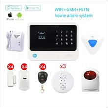 WiFi GSM GPRS Alarm system IOS Android APP Control Detector Sensor Wireless GSM Security Alarm Home Alarm System protect home