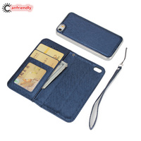 Luxury Case For Iphone 5 5S SE Wallet Leather 2 In 1 Flip Phone Cover Case